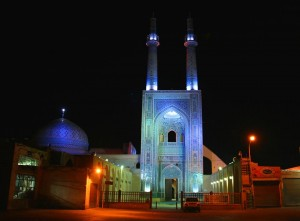 yazd at night